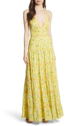 Alice + Olivia Karolina Print Maxi Dress