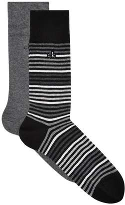 Calvin Klein Spotted Cotton Blend Socks