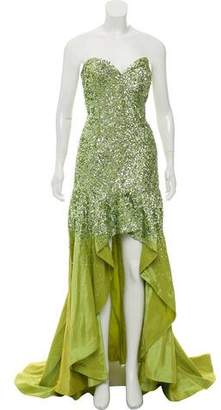 Terani Couture Sequin Asymmetrical Gown w/ Tags