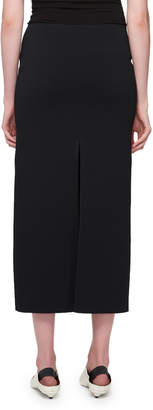 Proenza Schouler Double-Ribbed Slit Skirt