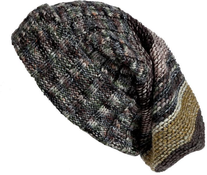 Missoni Stone/Citrine Contrast Knit Beanie
