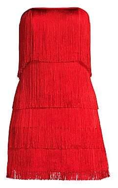 Alexis Women's Rosmund Strapless Tiered Fringe Mini Dress