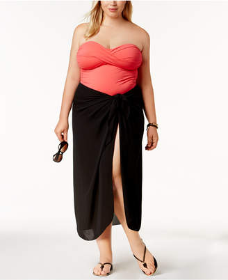 Dotti Plus Size Cover Up, Self-Tie Pareo Sarong Women Swimsuit