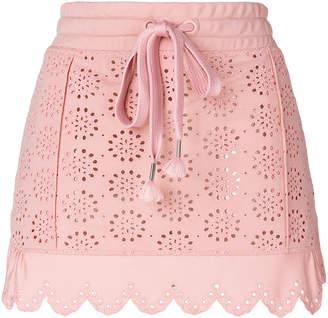 FENTY PUMA by Rihanna English embroidery scalloped skirt