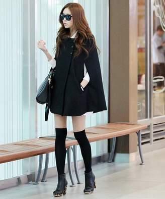 Afelice レディースポンチョコート 韓国 ファッション レディース あたたかい 秋用 冬用 ゆったり【A/W】【ra-2032】