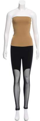 Ji Oh Colorblock Strapless Bodysuit