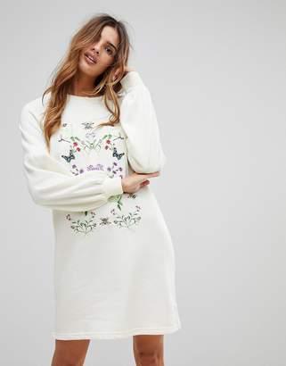 Vero Moda Embroidered Sweater Dress