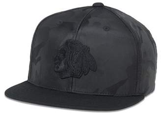 American Needle Chicago Blackhawks Tonal Camo Patterned Flat Brim Baseball Cap