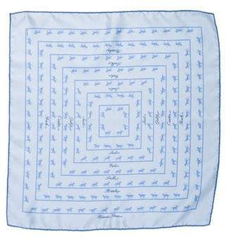 Hermes Duc Carriage Silk Pocket Square