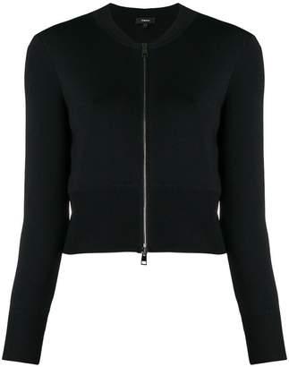 Theory cropped jersey jacket
