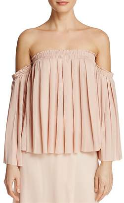 Elizabeth and James Emelyn Pleated Off-the-Shoulder Top $295 thestylecure.com