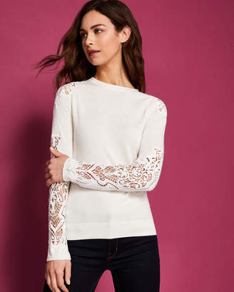 Ted Baker SHELSIN Lace detail sweater