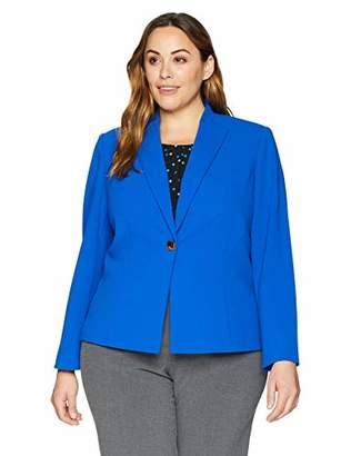 Calvin Klein Women's Plus Size Scuba Crepe Flyaway Jacket