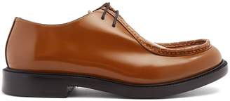 Calvin Klein Stitch-detail lace-up leather derby shoes