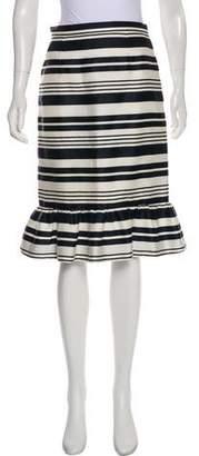 RED Valentino Striped Knee-Length Skirt