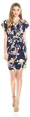Adelyn Rae Women's Cross Front Printed Dress