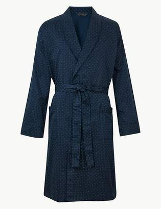 Marks and Spencer Pure Cotton Lightweight Dressing Gown