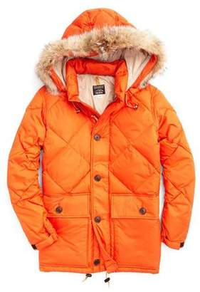 Rocky Mountain Featherbed Todd Snyder +  Nylon Quilted Hooded Parka in Orange