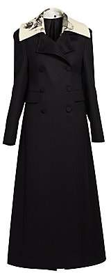 Valentino Women's Long Double-Breasted Wool Coat
