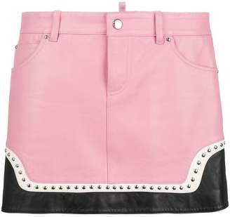 DSQUARED2 studded mini skirt