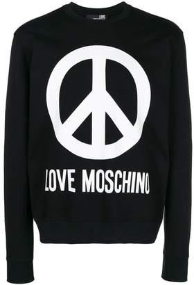 Love Moschino logo print sweatshirt