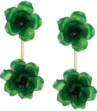 Ken Samudio oversized floral charm earrings