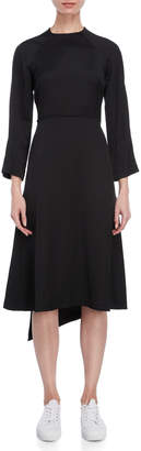Cédric Charlier Long Sleeve A-Line Dress