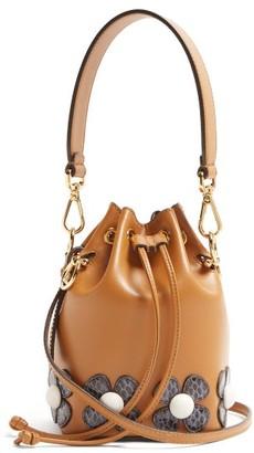 Fendi Mon Tresor Flower Applique Cross Body Bag - Womens - Tan Multi