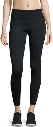 Nanette Lepore Wide-Waist Textured-Panel Leggings, Gray/Black $62 thestylecure.com