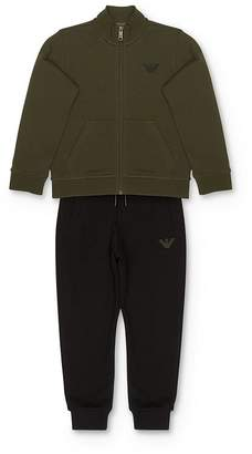 Giorgio Armani Boys' Zip Sweatshirt & Jogger Pants Set - Little Kid, Big Kid