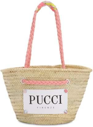 Emilio Pucci (エミリオプッチ) - EMILIO PUCCI ラフィア ロゴカゴバッグ