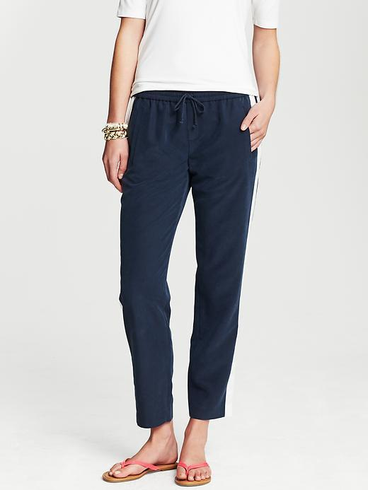 Banana Republic Luxe Racer-Stripe Crop