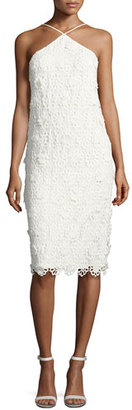Trina Turk Conga Sleeveless 3D Lace Cocktail Dress, Whitewash $348 thestylecure.com