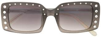 No.21 embellished rectangular-frame sunglasses