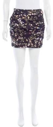 Roseanna Floral Print Mini Skirt