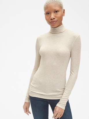 Gap Ribbed Long Sleeve Turtleneck Top in Modal