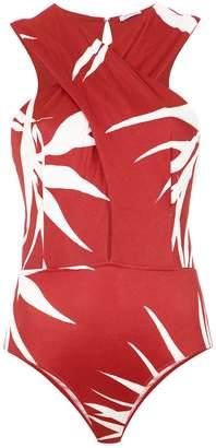Tufi Duek wrap neck bodysuit