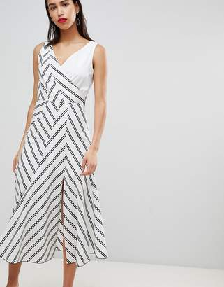 Sportmax CODE Code Stripe Midi Dress