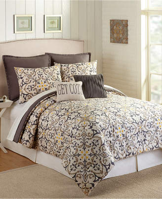 Presidio Square Madrid Queen Comforter Set - 7 Piece Bedding