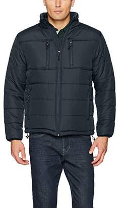 Mountain Club Men's Quilted Puffer Jacket With Micro-Fleece Lining