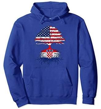 Croatian Roots American Grown Croatia Flag Hoodie Sweatshirt