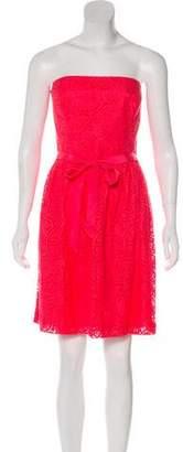 Trina Turk Strapless Lace Mini Dress