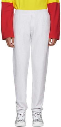 Vetements Grey Logo Patch Lounge Pants