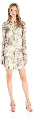 Haute Hippie Women's The Jungle Shirt Dress, Camo, S