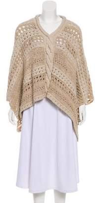 Maiyet Open Knit Poncho