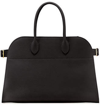 The Row Margaux 15 Grained Leather Top-Handle Bag