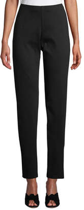 Eileen Fisher Heavy Ponte-Knit Slim Pants