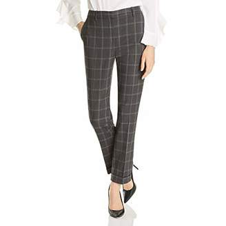 T Tahari Women's Quin Window Pane Plaid Suiting Pant