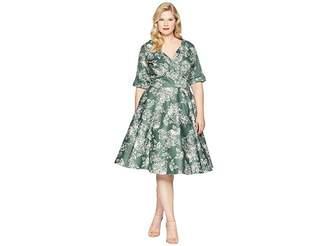Unique Vintage Plus Size Delores Swing Dress