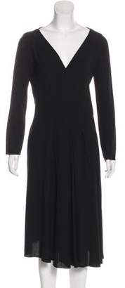 Nina Ricci V-Neck Midi Dress